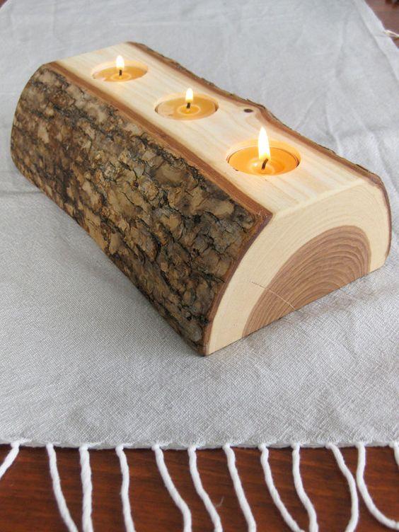portacandele fai da te legno 10
