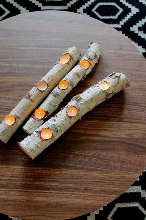 portacandele fai da te legno 13