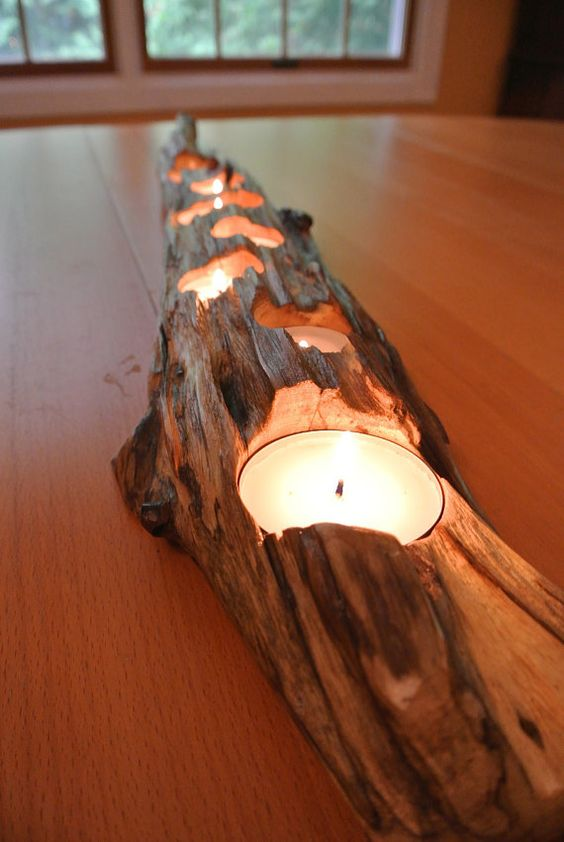 portacandele fai da te legno 2