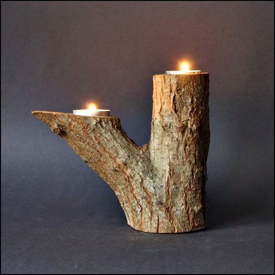 portacandele fai da te legno 3