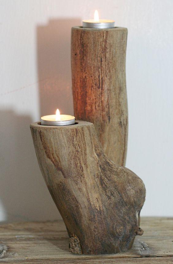 portacandele fai da te legno 6