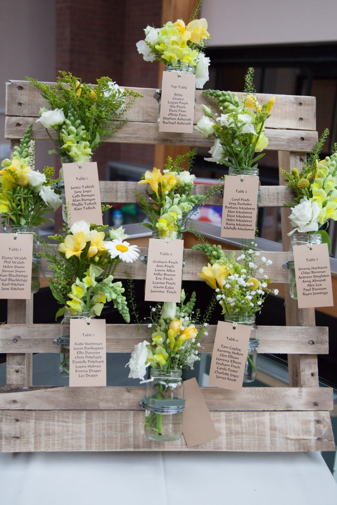 spesso DIY wedding Tableau with pallets! 20 ideas to marry  Be inspired! FU41