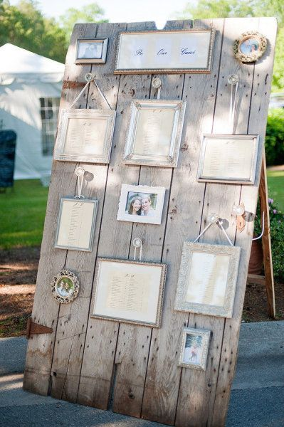 Ben noto DIY wedding Tableau with pallets! 20 ideas to marry  Be inspired! KR54