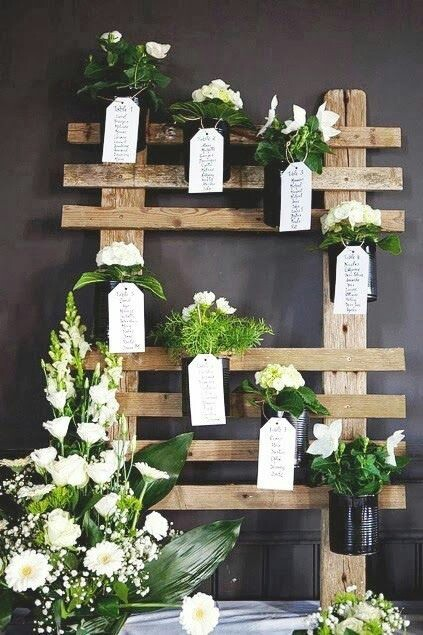 Estremamente DIY wedding Tableau with pallets! 20 ideas to marry  Be inspired! YA57