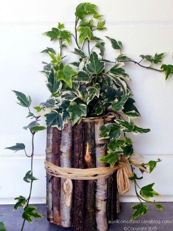 vaso fai da te legno 15