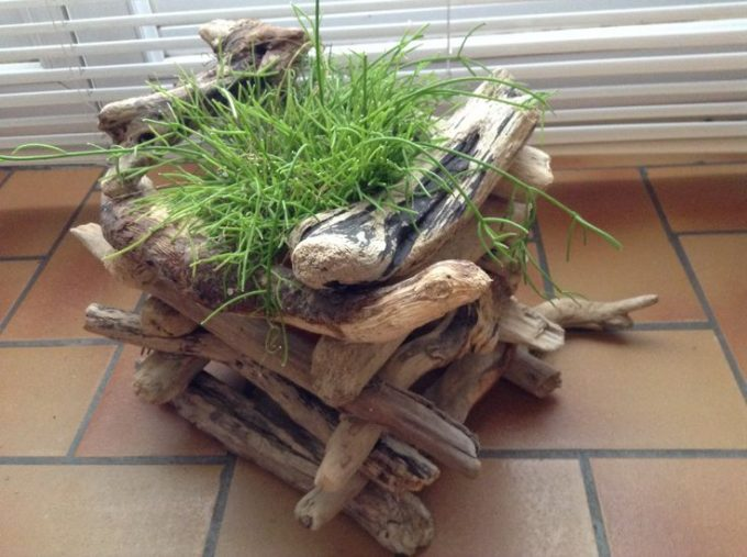 vaso fai da te legno 20