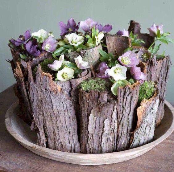 vaso fai da te legno 8