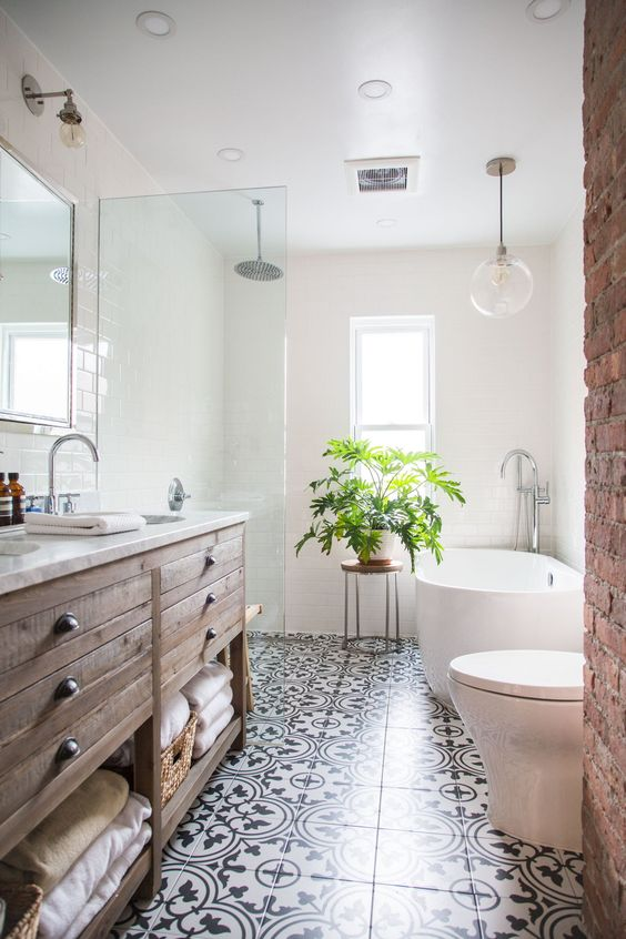 Decorare il bagno con le piante ecco 20 idee da cui - Decorare il bagno ...