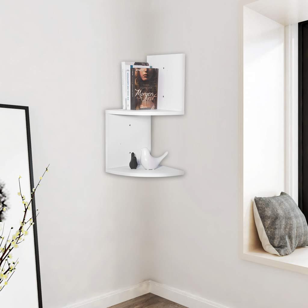 Mensole design moderne bianche ad angolo.