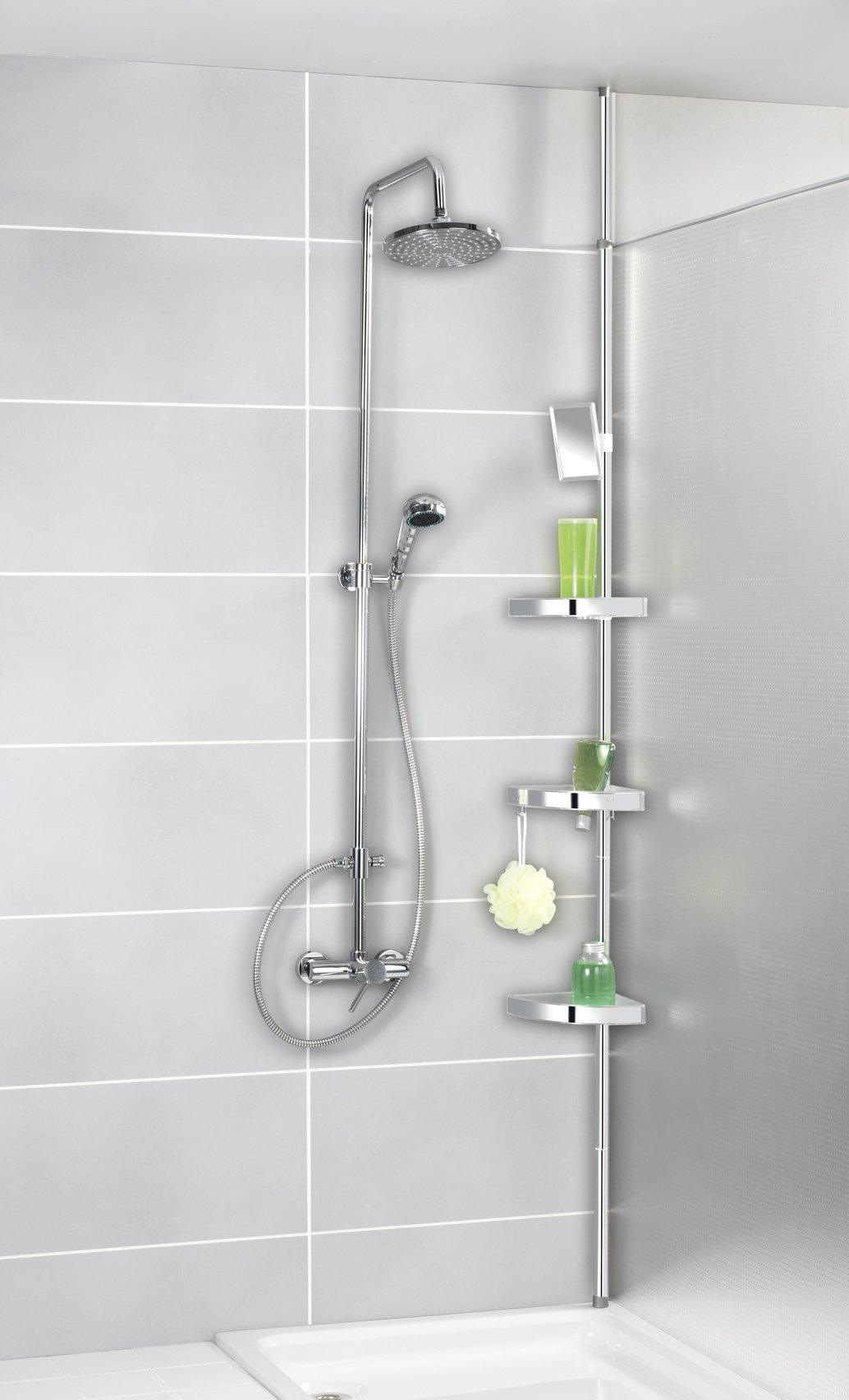 mensole angolari per la doccia.