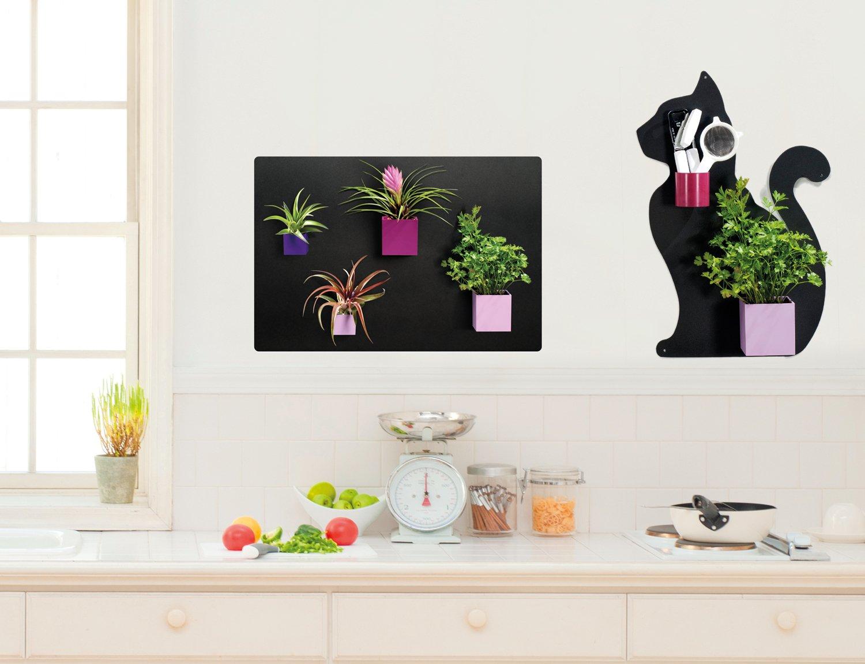 Vasetti magnetici colorati, ideale in uno stile moderno.