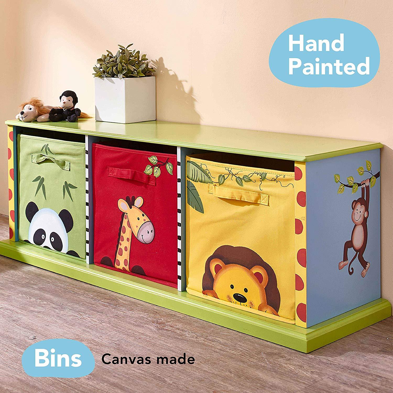 Mobile porta giochi con 3 cassetti per cameretta bambini.